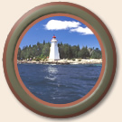 porthole image of lighthouse